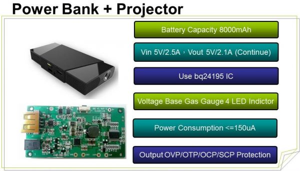 Power Bank + Projector